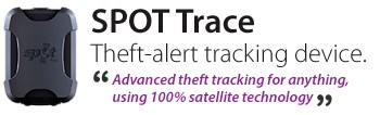 SPOT Trace Theft-alert tracking device.