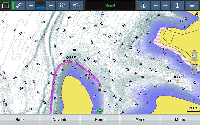 Wireless Chartplotter Integration and Built-in Autopilot
